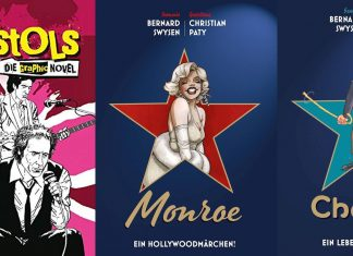 Panini Comics präsentiert die bildgewordenen Leben und Karrieren von Metallica, den Sex Pistols, Marylin Monroe, Charlie Chaplin und einen Bildband mit den größten Filmstars.