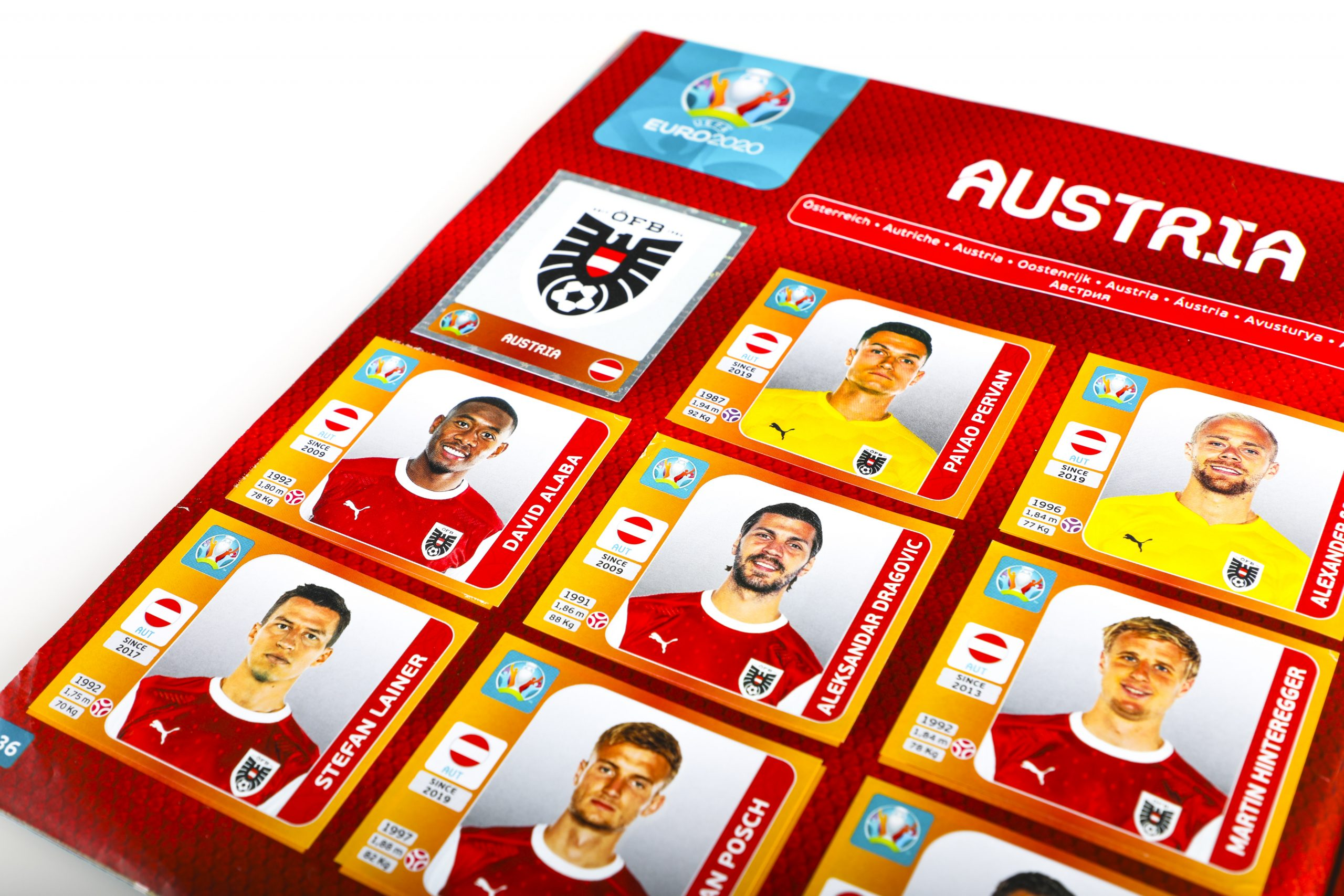 Panini_Euro2020_Albumseite-AT-beklebt-links